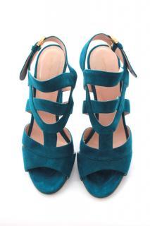 Sergio Rossi Suede Cutout Sandals