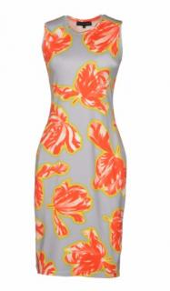 JONATHAN SAUNDERS Grey floral knee length dress
