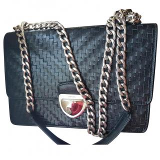 Prada Madras Woven Leather Chain Bag