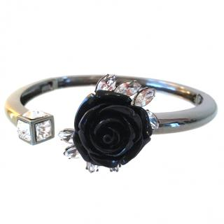 Mawi Black Rose and Crystal Choker - Brand New (rare)
