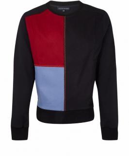 Jonathan Saunders Black Patch Crew Neck Sweatshirt