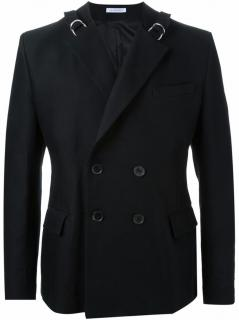 J.W.Anderson Double-breasted Strap Blazer Jacket In Black