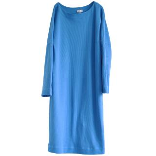Brunello Cucinelli Blue Silk Dress