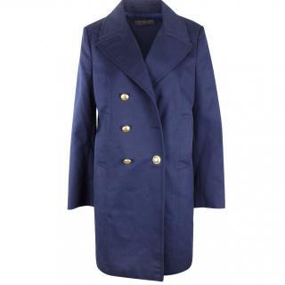 Emilio Pucci Women's Blue Trench Coat UK 14