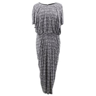 Saloni Black and White Patterned Dress