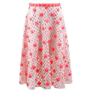 Paskal Blush Pink Laser Cut Skirt