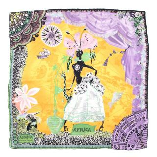 Christian Lacroix Africa Silk Scarf