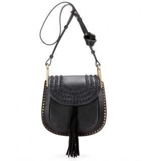 Chloe Hudson Black Leather Tassel Shoulder Bag