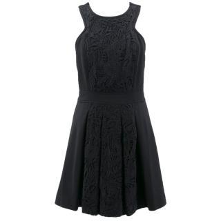 Tibi Black Crochet Dress