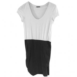 Theory Black and White Dress
