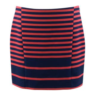 Thakoon Addition Blue Striped Skirt
