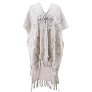 Barrie Stone Cut-Out Cashmere Poncho