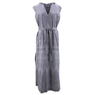 Baja East Grey Hooded Cotton Dress