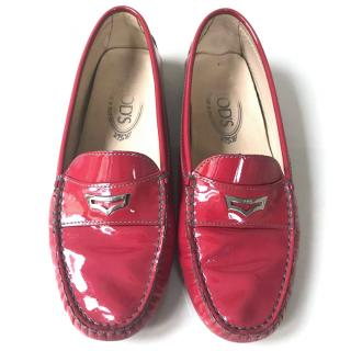 Tod's Mocassino Patent Pink
