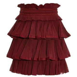 Isabel Marant Goya Braided-Waist Tiered Skirt