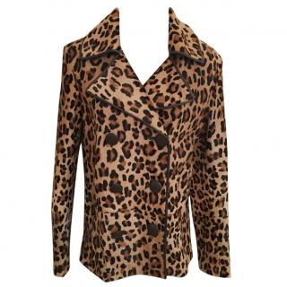 No 21 - Runway Animal Print Leather Jacket