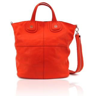 Givenchy Red Leather Nightingale Tote Bag