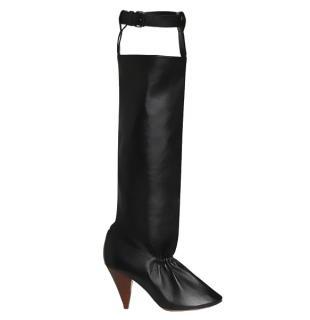 Black Celine Soft Pump (tall) Boots SS17