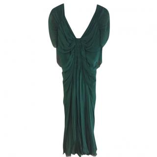 Alberta Ferretti Jewel Green Evening Dress