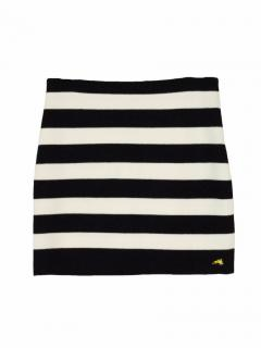 Bella Freud striped knitted short skirt