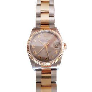Rolex Datejust 31mm gold and steel  with receipt and papers