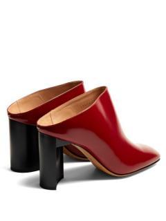 Maison Margiela Block-heel leather mules / Asymmetric-Heel