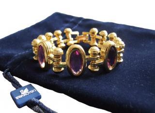 Swarovski goldtone & crystal bracelet