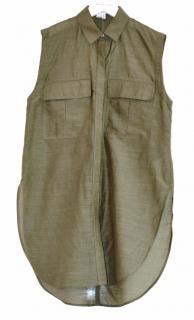 Helmut Lang khaki cotton-silk shirt