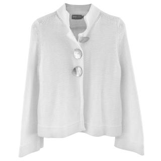 Goat White Cotton Knit Cardigan