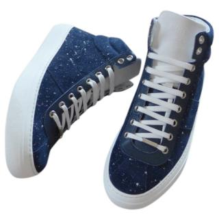 Jimmy Choo Belgravia Trainers Sea Blue