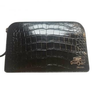 Prada alligator bag new with receipt