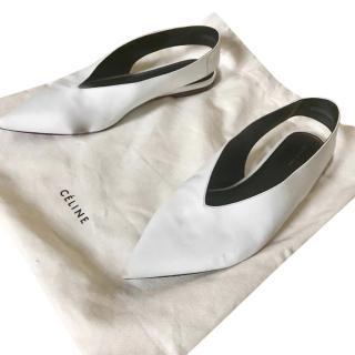 Celine White Flats