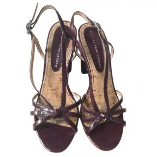 Marc by Marc Jacobs Purple Patent Leather Platform Wedges