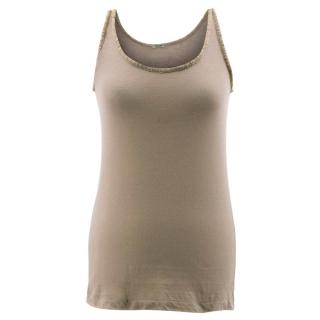 Bottega Veneta Taupe Tank Top