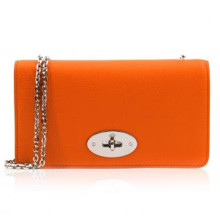 Mulberry Orange Bayswater Chain Wallet