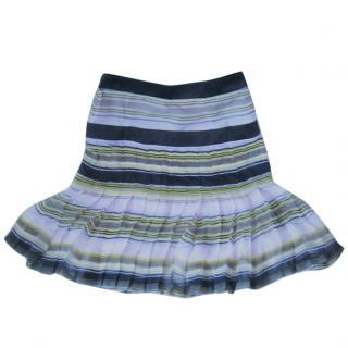 Valentino Striped Silk Skirt