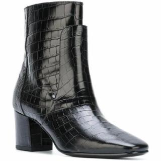 Givenchy Paris Croc Embossed Ankle Boots UK 5