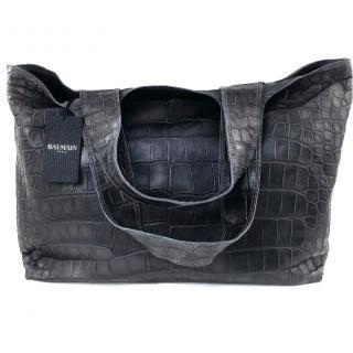 Balmain Yam Croco Handbag