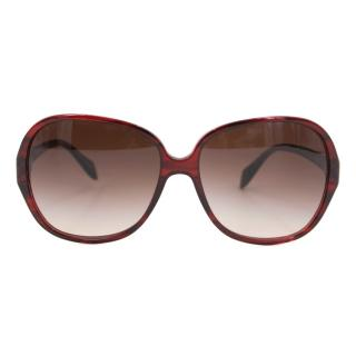 Oliver Peoples Red Isobel Butterfly Sunglasses