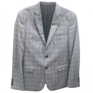 The Kooples Grey Plaid Wool Blazer