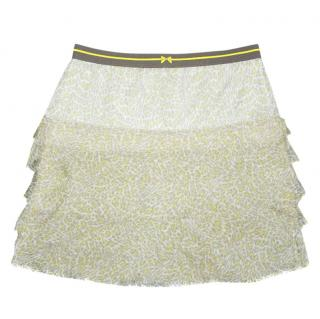 Marc Cain Ruffle Silk Skirt