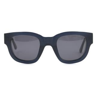 Acne Studio Navy Blue Matte Frame Sunglasses