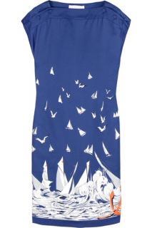 Stella McCartney Sailboat Print Silk Dress