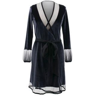Myla Blue Velvet Robe