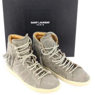 Isabel Marant Graphite fringed suede trainers