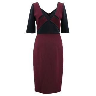 Roland Mouret Burgundy Dress