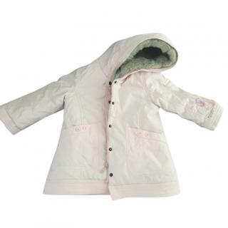 Pale Pink Catimini Fur Lined Coat