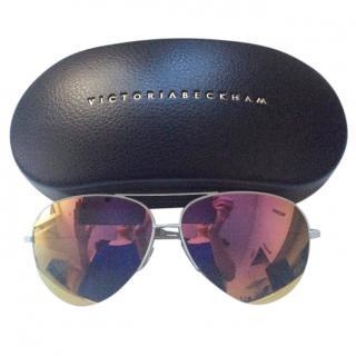 Victoria Beckham Classic Victoria Aviator Malibu Mirror Sunglasses