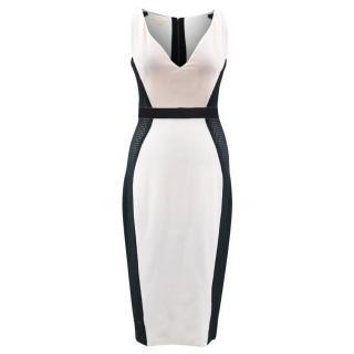 Antonio Berardi White and Black Mesh Dress