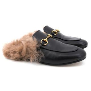 Gucci Black Princetown Leather Slipper